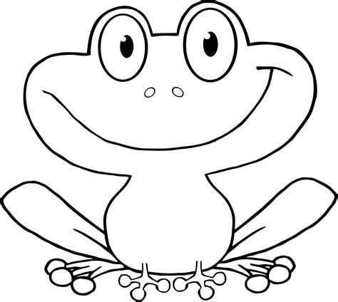 Printable Cartoon Cute Frog Character For Kids Coloring Coloring Page Of A Frog