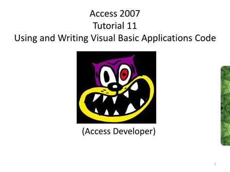 tutorial visual basic access 2007 ppt access 2007 tutorial 11 using and writing visual