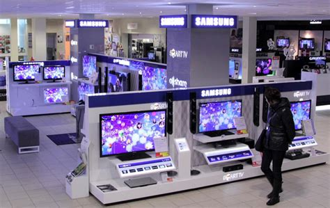samsung electronics visual display in store display graphis