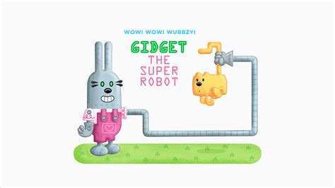 Gamis Pudle Pop quot gidget the robot quot title card wow wow wubbzy