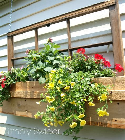 outdoor window flower boxes remodelaholic 100 ways to use windows