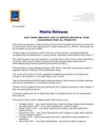 Media Release Letterhead Aldi Versli Lietuva