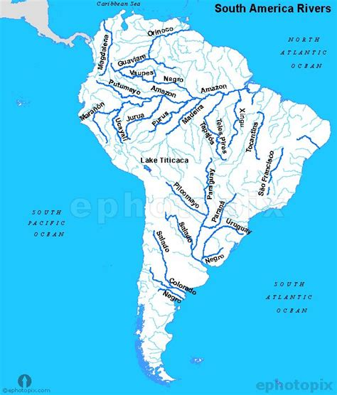 map of with rivers south america rivers map maps