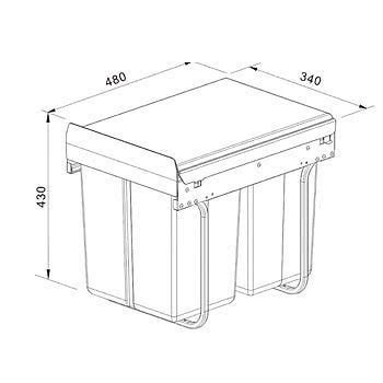 new 40l 2x20 pull out kitchen waste bin recycle bin new 40l pull out kitchen waste bin under sink cabinet