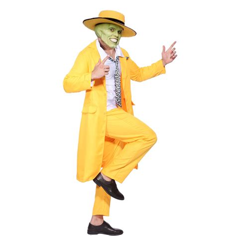 90s fancy dress costumes men mens 90 s yellow gangster zoot suit the mask jim carrey