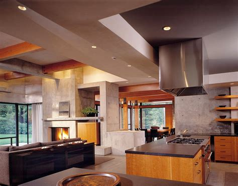 Contemporary Homes Interior Northwest Contemporary Home Woodway Residence Digsdigs