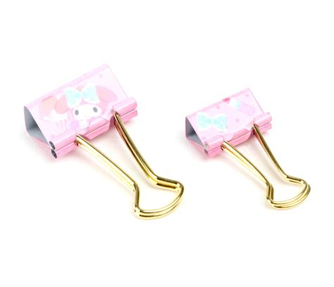 Binder Clip Set my melody binder set sanrio