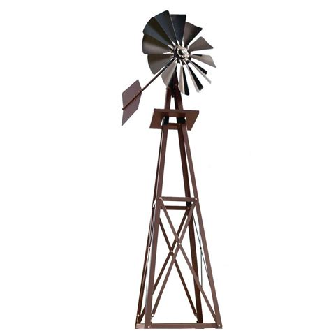decorative windmills for homes small bronze powder coated backyard windmill byw0057 the