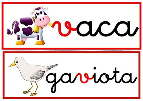 imagenes y palabras con v fichas palabras con la letra v ortografia v
