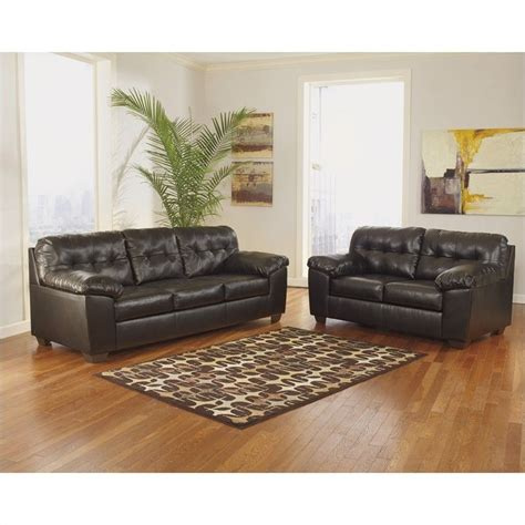 ashley furniture brown leather couch ashley furniture alliston leather sofa in brown 2010138