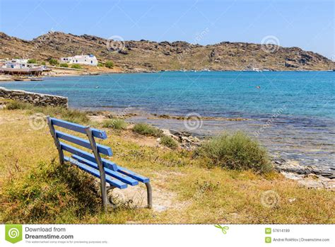 bench on the beach bench on the beach stock photo image 57614189