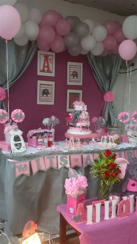 Baby Shower Themes And Decorations by Elephant Pink And Grey Baby Shower Elephant Pink And