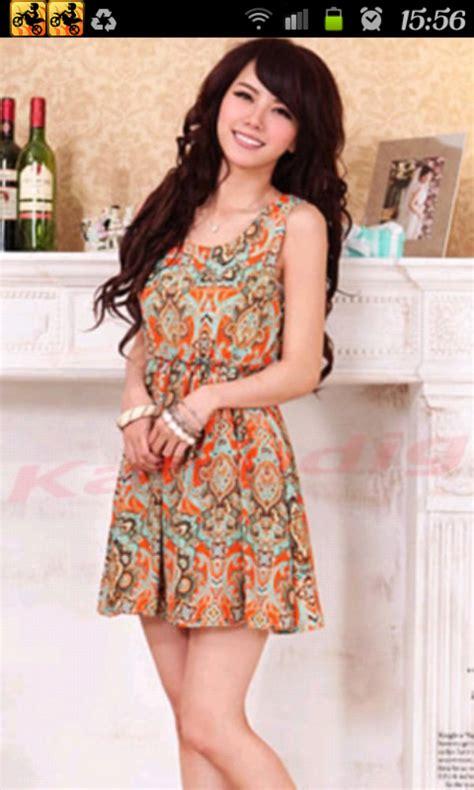 Dress Wanita Sleeve Chiffon Vintage Dress Birumr483 fashion womens summer crew neck sleeveless