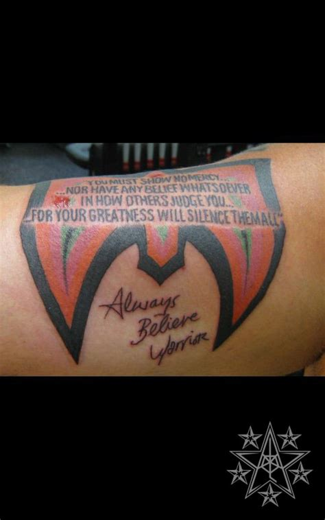 ultimate warrior tattoo tattoos of celebs muskegon michigan usa