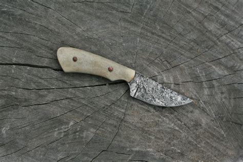 custom neck knives custom neck knife deer antler