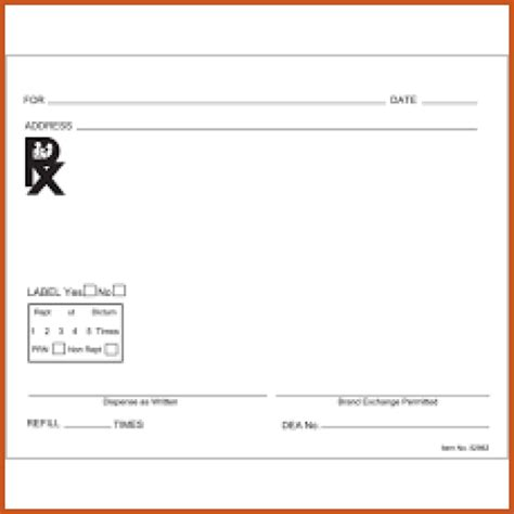 prescription form template word prescription pad template sop exle