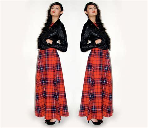 Tartan Maxi Dress Cleo tartan plaid maxi dress by badmoodshop on etsy
