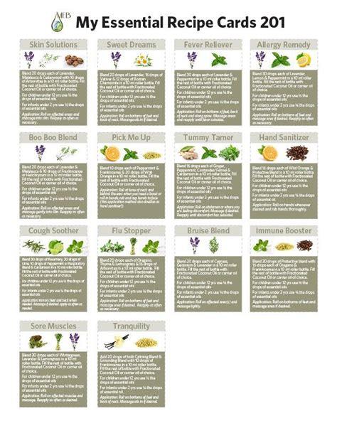 printable doterra recipes my essential recipe cards 201 doterra essential oils