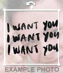 i want you testo testo da mettere sulle immagini i want you ripetuto 3