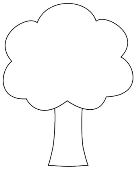 Tree Shapes Coloring Page Tree Outline Printable Cliparts Co by Tree Shapes Coloring Page