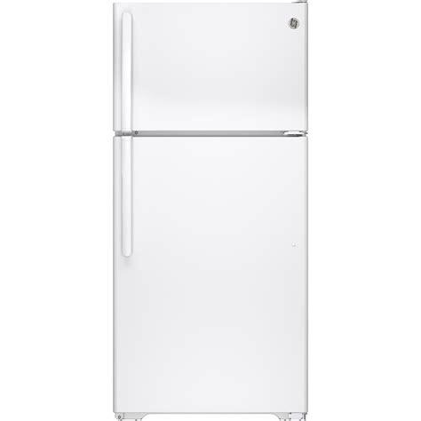 Home Freezer ge 14 6 cu ft top freezer refrigerator in white