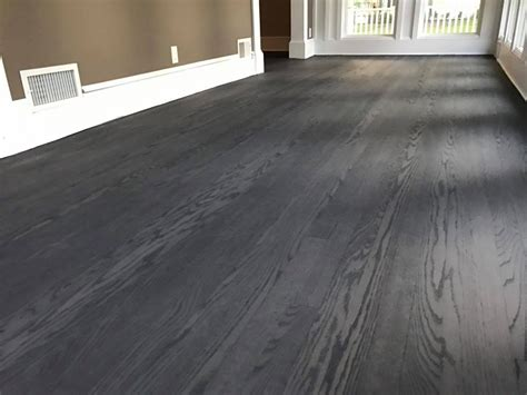 Hinsdale Floor color change from natural to gray   Tom