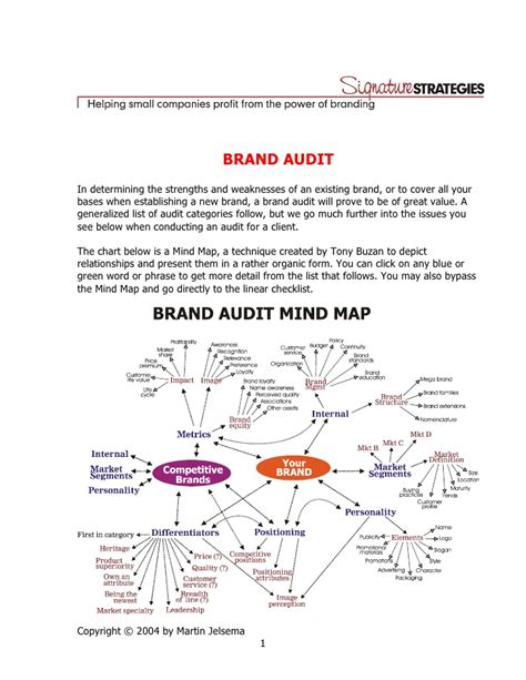 3996140 Brand Audit Elements Brand Audit Template