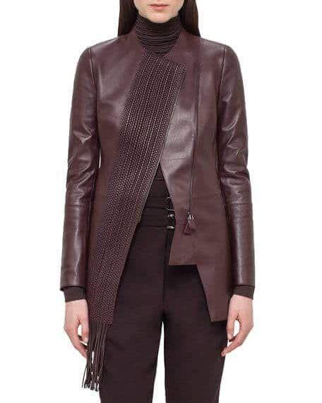 jaket kulit wanita terbaru  asli garut hijab panjang