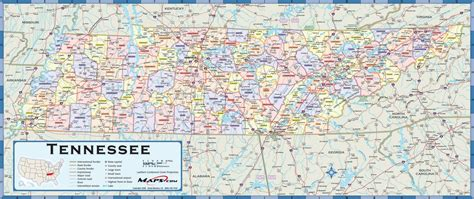 map of tennessee counties tennessee counties wall map maps