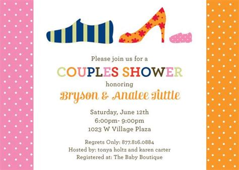 Couples Baby Shower Invitation Wording by 17 Best Images About Baby Shower On Cheer
