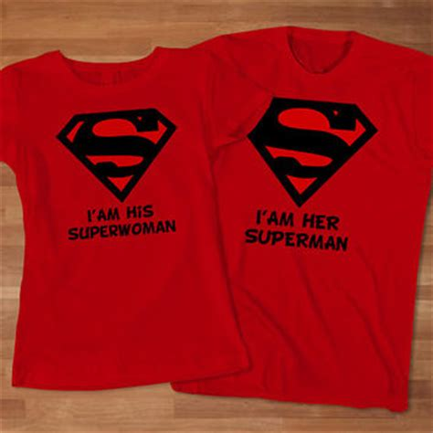 Customized T Shirts For Couples Superman Superwoman Couples T Shirt From Sarimbittees On Etsy