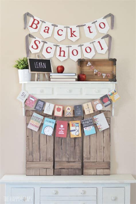 Back To School Decorating Ideas by Back To School Decorating Ideas The Happy Scraps