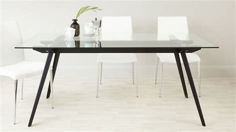 Glass Dining Table For 6 by 6 8 Seater Glass Dining Table Black Powder Coated Legs