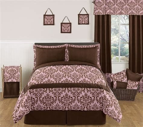 pink and brown comforter pink and chocolate nicole childrens kids teen bedding