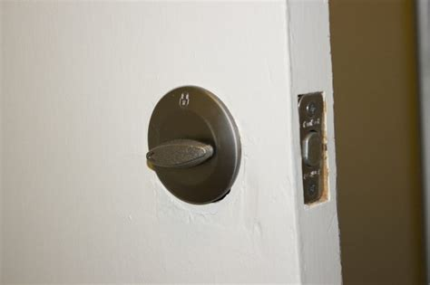 Removing Door Handle Without Visible Screws by How To Remove A Deadbolt Lock Without Screws With