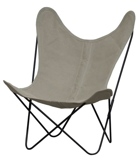 aa butterfly low armchair linen black structure black