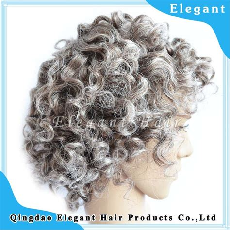 mixed grey afro wigs for old man fgw 0041 buy wigs for natural looking curly hair thin skin indian remy human