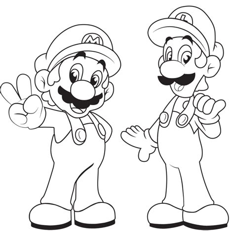 printable coloring pages mario mario bros coloring pages to print