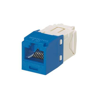 Panduit Modular Cat6 panduit cj688tgbu 24 blue cat6 tx6 plus rj45 24 pack electric