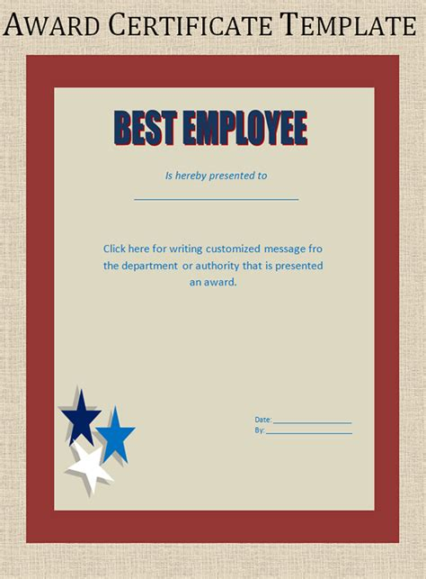 Certificate Of Award Template printable award certificate templates sleprintable