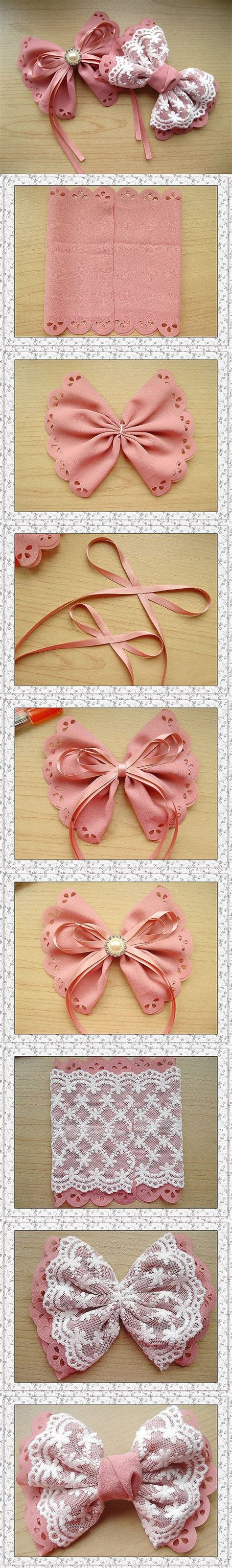 how to your to bow how to make your own lovely bow hairpin step by step diy tutorial picture