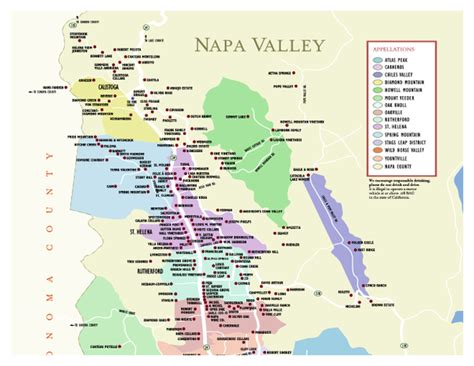 napa valley winery map wineries in napa