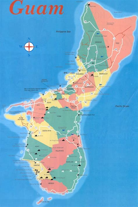 maps guam large tamuning maps for free and print high