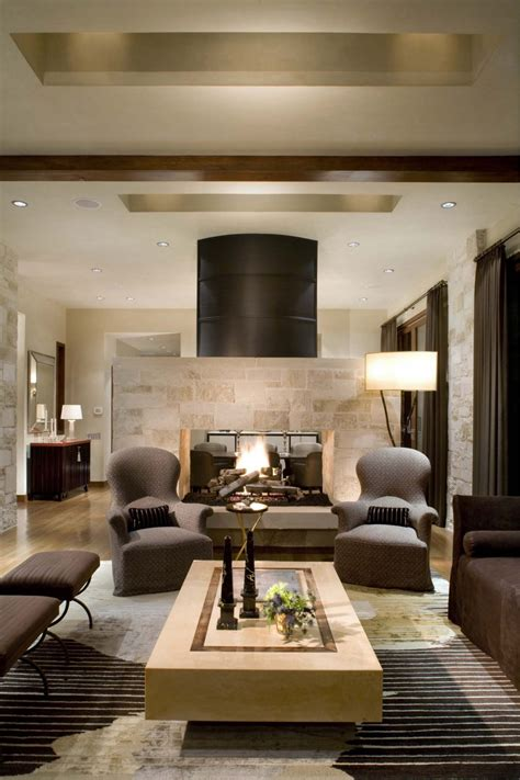 Livingroom Fireplace by 16 Fabulous Earth Tones Living Room Designs Decoholic