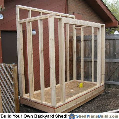 How To Build Shed Walls by Lean To Shed Plans