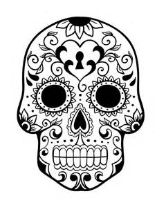 On Day Of The Dead History And Free Sugar Skulls Coloring Pages sketch template