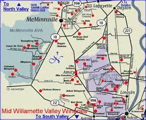 valley oregon map mid willamette valley wineries oregon