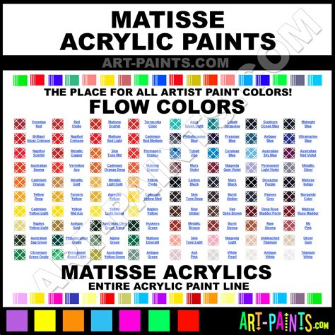matisse flow acrylic paint colors matisse flow paint colors flow color flow acrylics