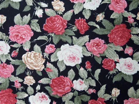 Floral Patchwork Fabric - black vintage floral 100 cotton fabric