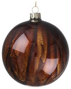 tiger brown ornament ball 4 quot rustic christmas